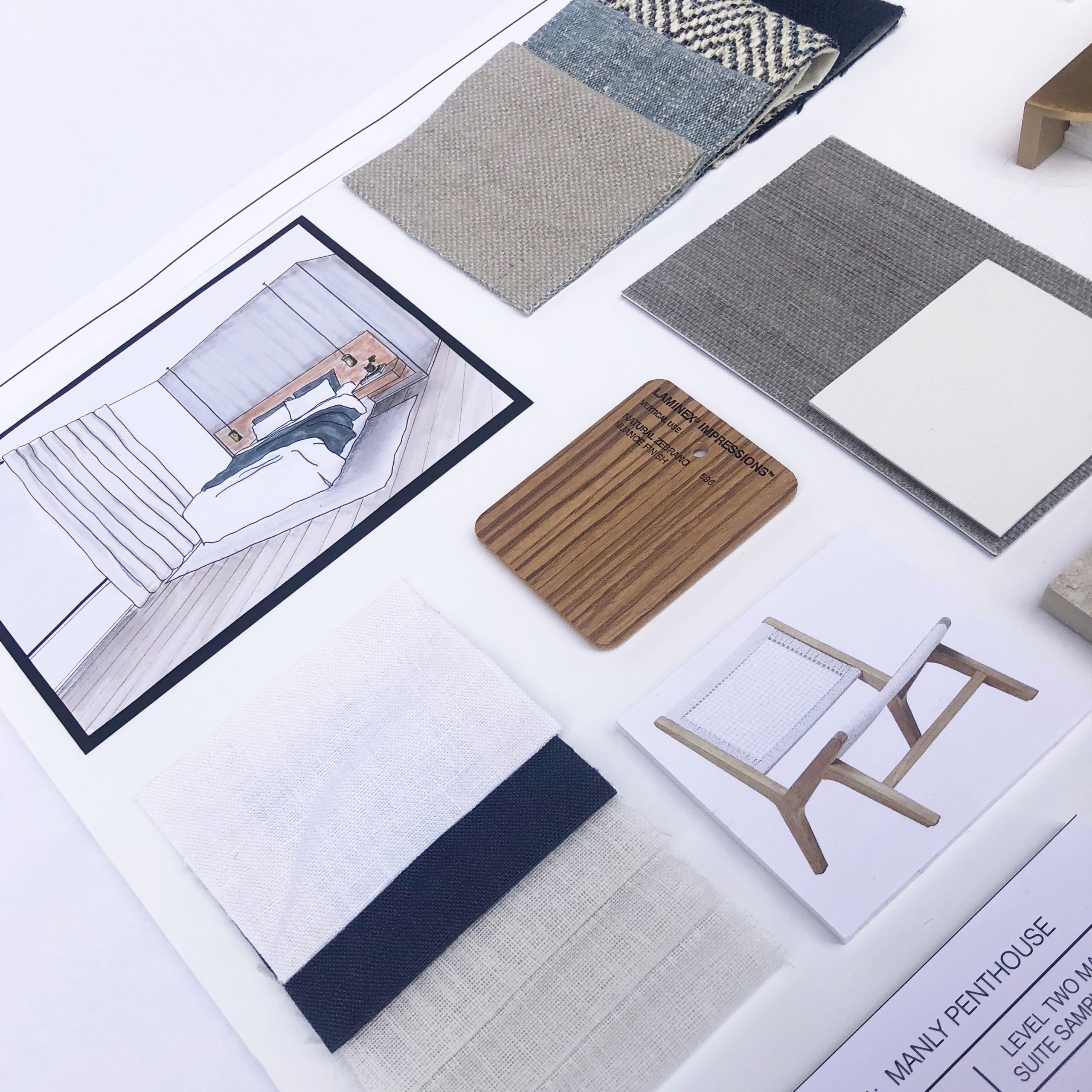 McMillan Design - Manly Project Sample Board
