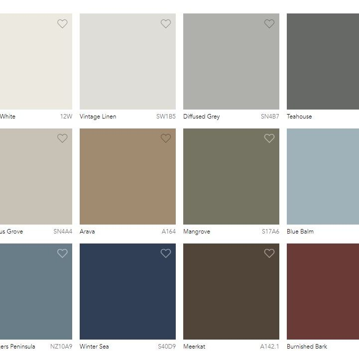 Retreat colour palette